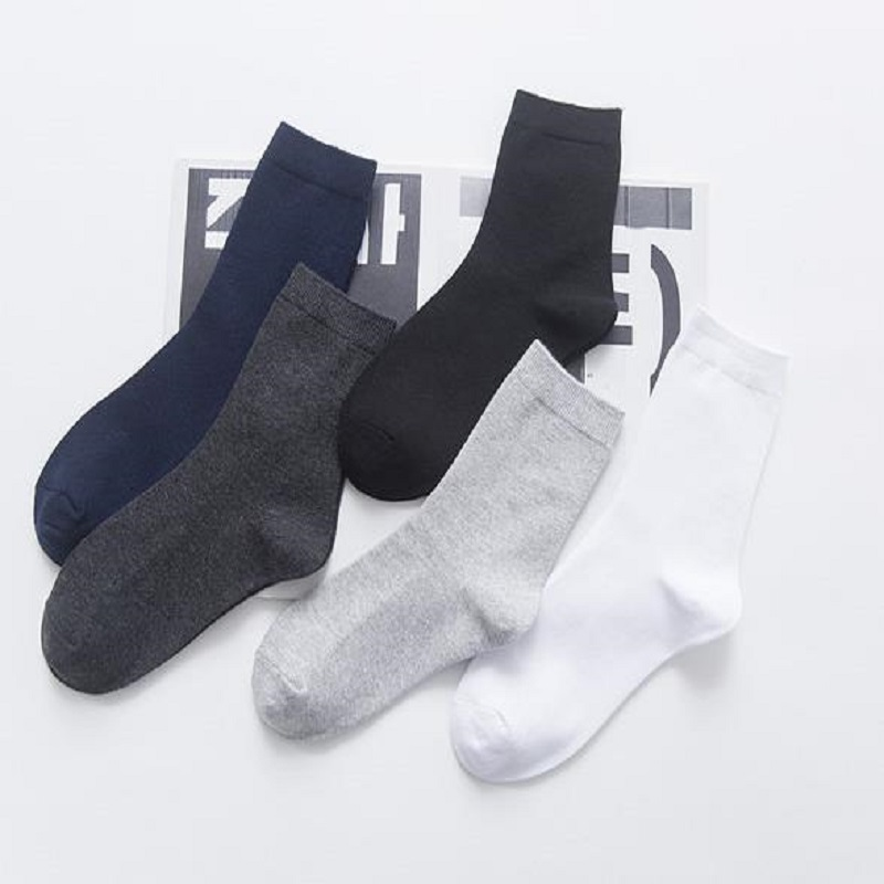 New mens socks in the tube thick winter solid hand-sewn four seasons business mens cotton socks