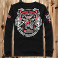 Бесплатная доставка Плюс размер мужской осенью и зимой жира одежда 2xl 3xl 4xl 5xl 6xl 7xl 8xl лайкра хлопка о-образным вырезом с длинными рукавами футболки