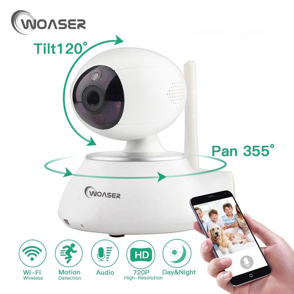 WOASER 720P Wireless Wifi IP Camera Pan Tilt IR-Cut Home Security Camera Night Vision CMOS CCTV Network IP Camera Phone Control
