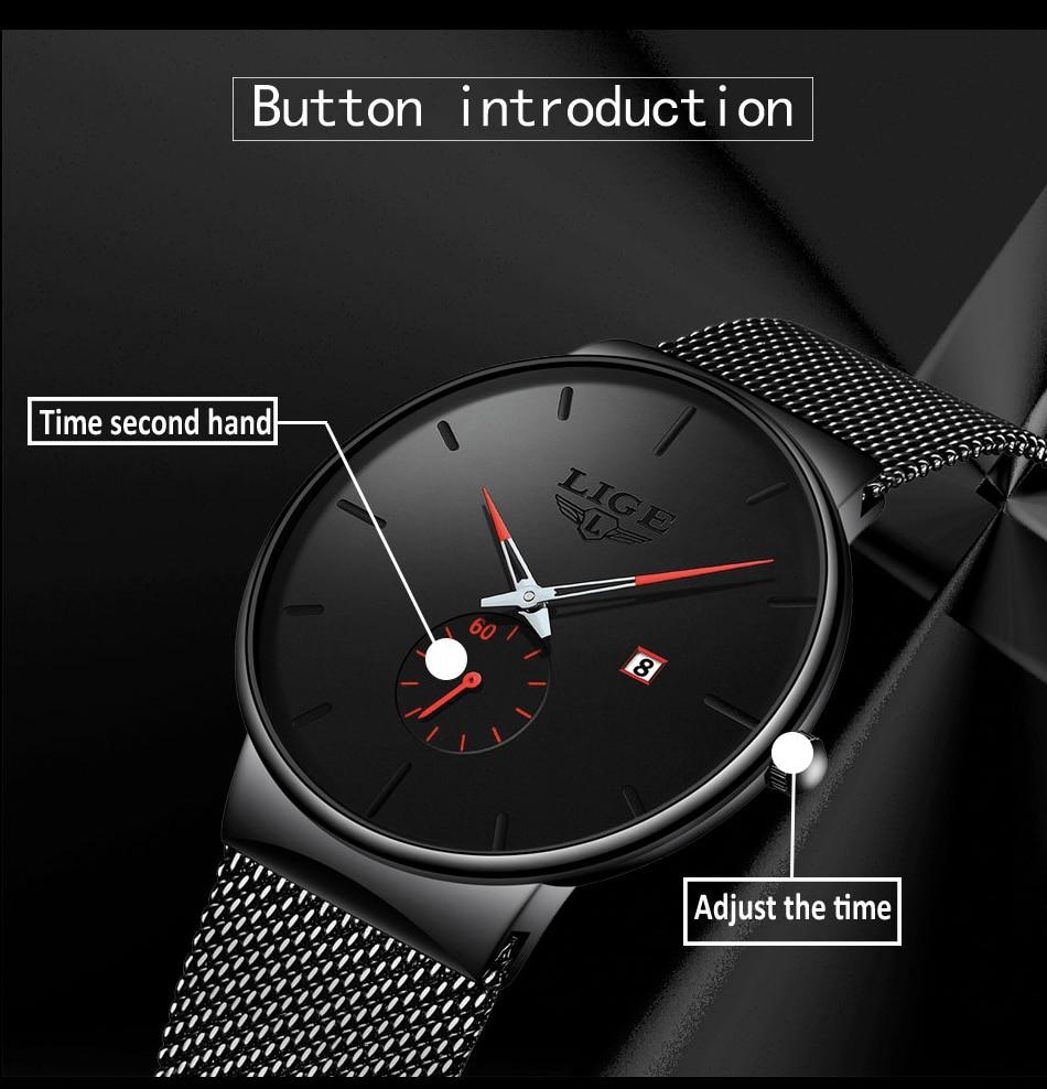 HTB1nnShXa67gK0jSZFHq6y9jVXar 2019 LIGE Mens Watches Top Brand Luxury Fashion Wrist Watch For Men Quartz Clock Clock Male Ultra-Thin Mesh Belt Waterproof+Box