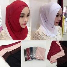 Женские высококачественные хлопковые Кроссоверы мусульманские внутренние шапочки под хиджаб исламский шарф шапки арабский головной убор