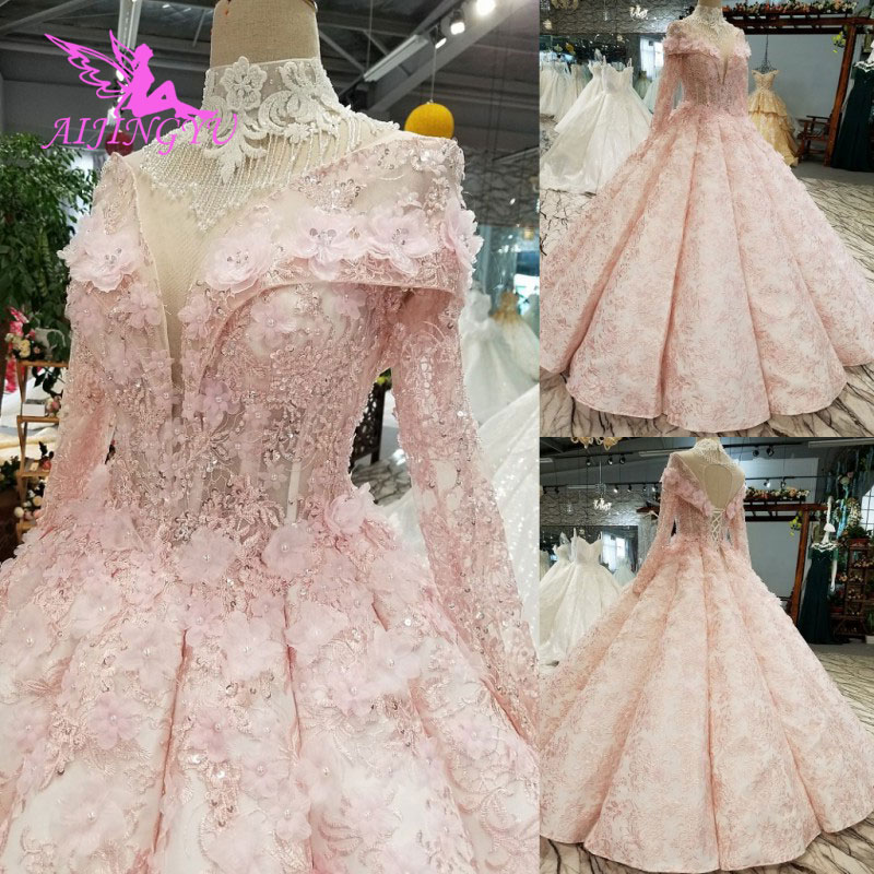 Aijingyu Bridal Dresses Illusion Gowns Egypt Collection Custom Design White Queen Princess Derss Luxury Wedding Gown January 2020