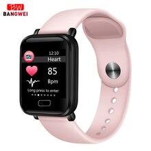 LIGE Newest woman smart bracelet Heart rate monitor sport watch Fitness tracker Waterproof Smart Men women For Android IOS