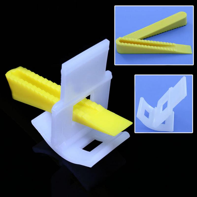 New 100 Tile Leveling System 50 Clips+50 Wedges Tile Leveler Spacers Lippage brand 400pcs lot 1 0mm pe wedges floor wall tile leveling system tile spacers bulding tool 6mm green ideal for variable free shipping