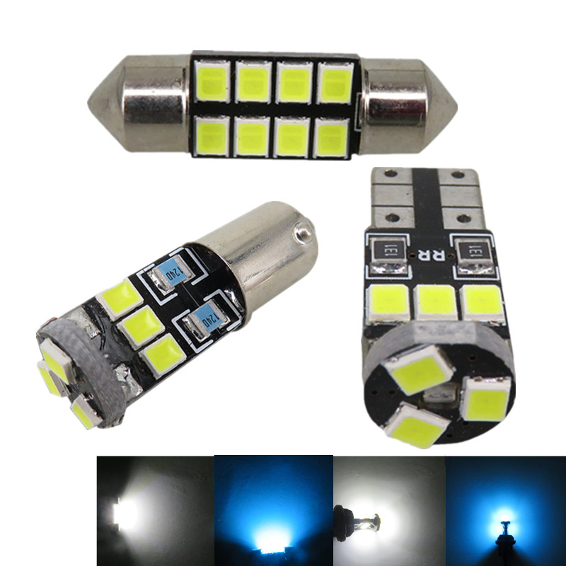 WLJH 7x Map Dome Trunk Door Light 2835 SMD Led T10 W5W Car Led Interior Light Package for Nissan Altima 2002 2003 2004 2006 2005 car 5630 smd interior map dome trunk light led bulb white led kit package for volvo 850 1991 1995 with install tools