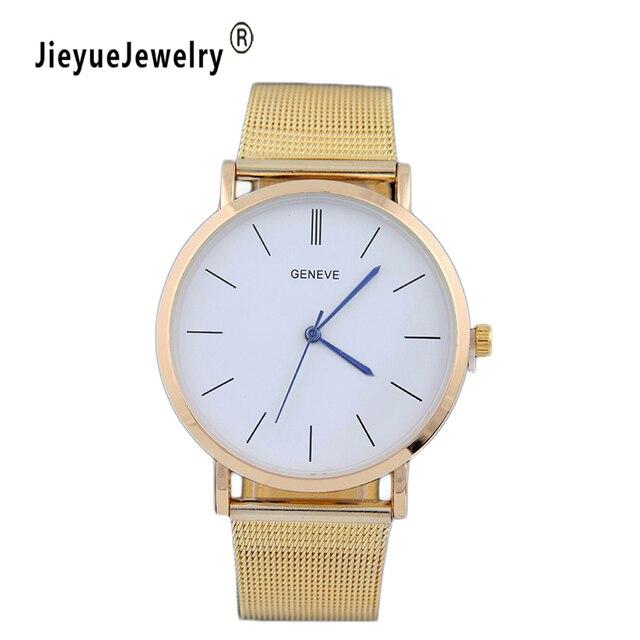 e1ee250ca36 Prata marca de Moda Casuais Relógio De Quartzo Das Mulheres Vestido Relógios  Relogio feminino Relógio de
