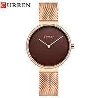 יוקרה CURREN קוורץ של נשים שעונים חדשים למעלה מותג גבירותיי שעוני יד אופנה מתנות סיטונאית נשים שעון יד relogio feminino