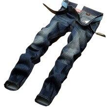 Бесплатная доставка Весна 2016 новых Европейских и Американских горячей продажи популярные молодежные мужчины большой размер хлопок прямые джинсы Дешевые оптовые