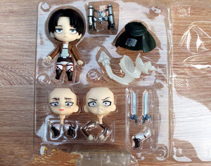 Image 5 - Japan Anime Action Figure Game Attack on Titan Levi Ackerman 390# 10cm PVC Model Collection Q Version Cute Toys Doll Brand New