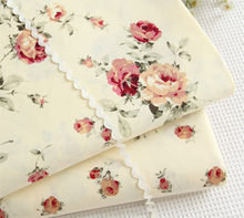 160CM*50CM 100% cotton yellow rose fabric bedding duvet cover quilt sewing fabric patchwork tecidos crafts doll cloth fabric(China)