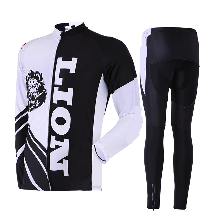 CUSROO 2017 New Lions jersey Mens Cycling Jersey Set mountain bike racing clothing specialize cycling clothing Customized