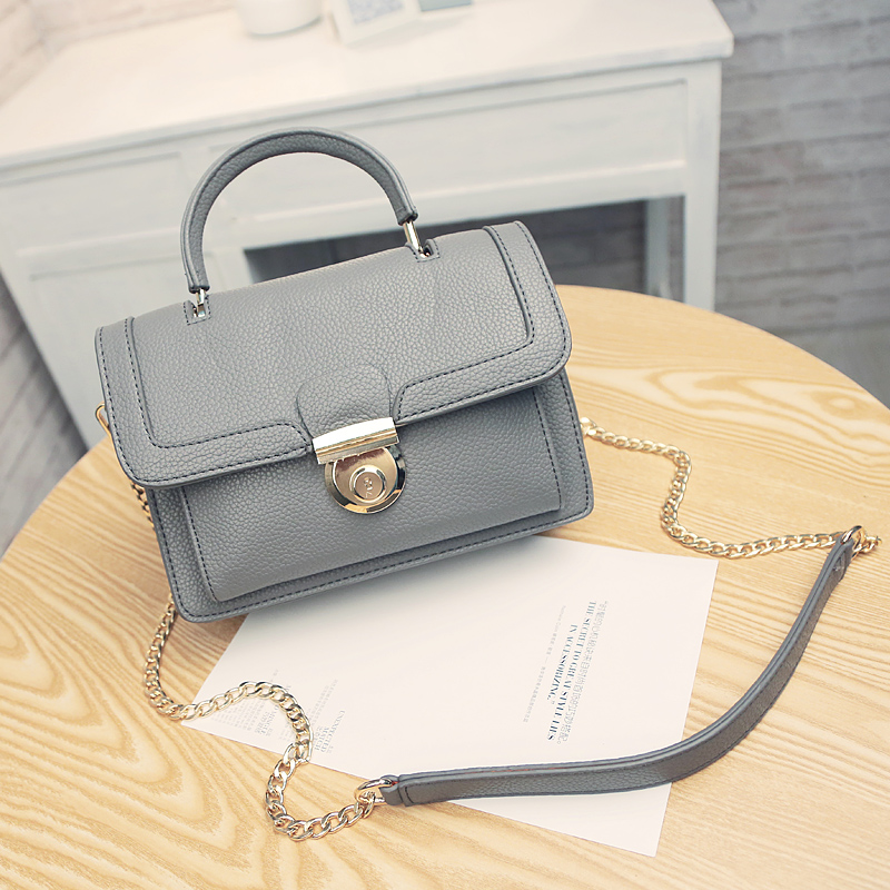 ФОТО real leather grey color women bag