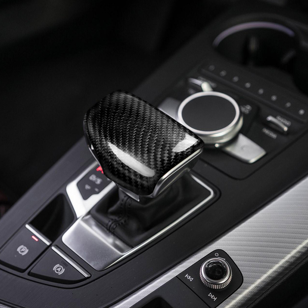 Gear Shift Knob Frame Carbon Fiber Car Gear Shift Knob Head Cover Trim for A4 S4 RS4 B9 A5 S5 RS5 Q5 Q7