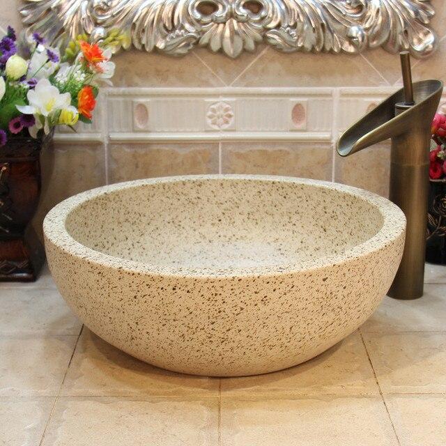 Chine Lavabo En Ceramique Vasque Lavabo Vestiaire Peint A La Main