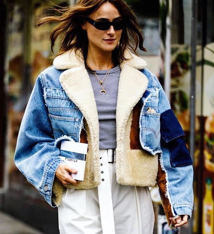 Autumn and winter coat cowboy Teddy thick warm jacket coat women 2018 autumn women fashion