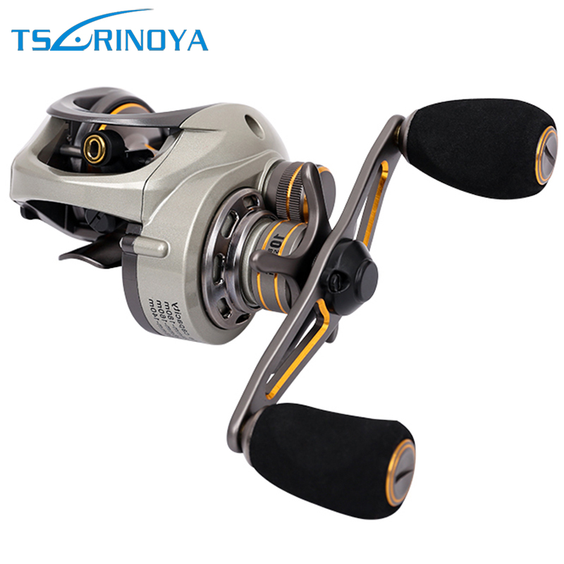 цены Trulinoya CK150 Bait Casting Fishing Reel Dual Brake Baitcasting Reels Right/Left Hand 9+1BB Max Drag 6kg Lure Fishing Wheel