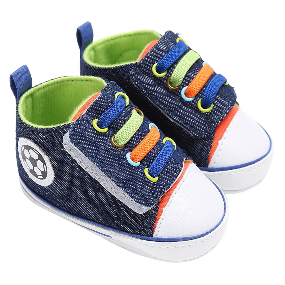 2018 Newborn Baby Shoes Baby Boy Girl High Top Canvas Sneakers Infant Toddler Antislip Soft Sole Baby Shoes 0-12M