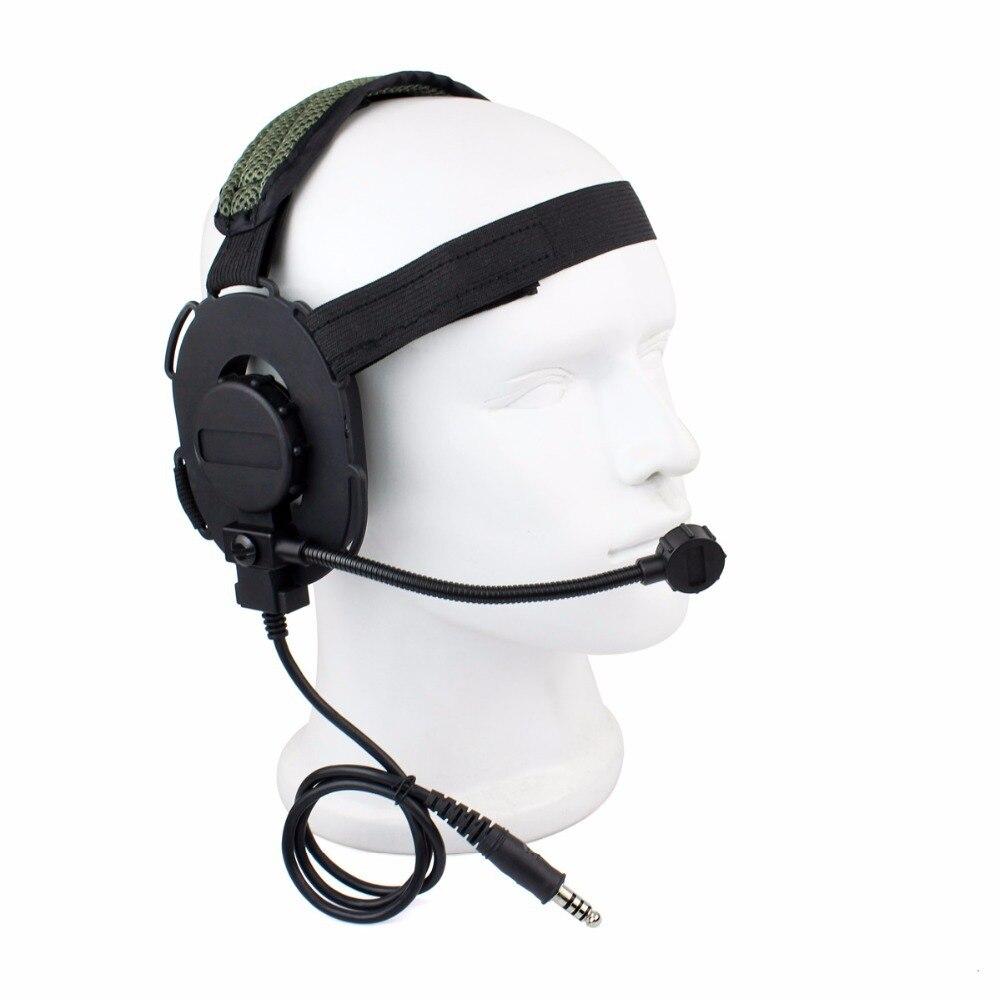 Z Tactical Bowman Elite II Headset Airsoft Mic Radio Boom 3 Green Z Tactical HD-03 Best C2130G