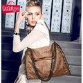 BVLRIGA Women bag luxury foldable chain handbag famous designer brand bags women leather handbags vintage women messenger bags