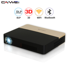 CAIWEI Hotest Mini Proyector DLP Inteligente Bluetooth WiFi Airplay 4 K Full HD 3D Proyector Portátil para Smartphone Tablet Portátil