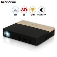 Hotest CAIWEI Mini Inteligentne Bluetooth WiFi Airplay 4 K Full HD Przenośny Projektor DLP 3D Proyector dla Smartphone Tablet Laptop