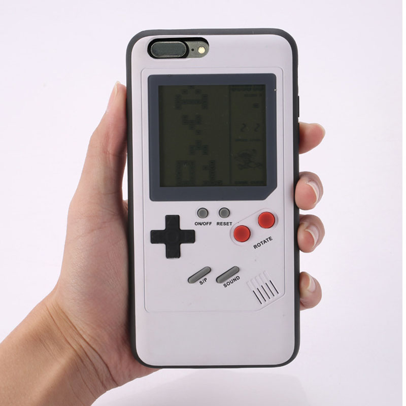KaRue Game Console Player Phone Cases for iPhone X 6plus 6s 7 7plus 8 8plus Play Blokus Game Console Cover Protective Gift