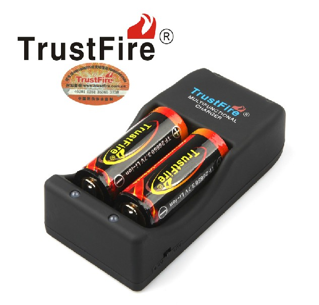 TrustFire TR 006 Multifunctional Battery Charger 2PCS TrustFire 26650 Protected 5000mAh 3 7V Lithium Rechargeable Batteries in Chargers from Consumer Electronics