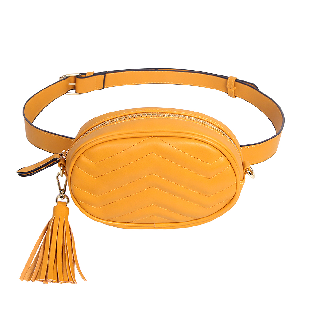 Brand Belt Bag Women Solid Waist Bags Ladies Pu Leather Tassel Fanny Packs Female Box Wallets With Belt Phone Chest Pack Female