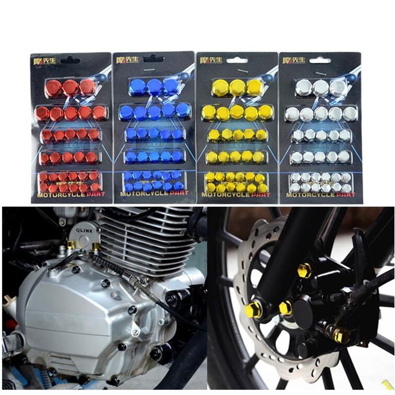 Colorful Motorbike Screw Cover Decoration Scooter Accessories Universal Part Frame Sliders Motorcycle Nut Moto Decal Car Style