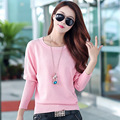Autumn&Winter Women's Knitted O-Neck Hollow Batwing Sleeve Jumper Warm Loose Pullover Plus Size Cotton Sweater Tops Y1020-76E