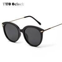 DOIS Oclock Enormes óculos Polarizados Óculos De Sol Mulheres Polaroid Óculos de Sol Anti UV Eyewear Oculos Espelho Rosto Big Verão Sunnies PA702