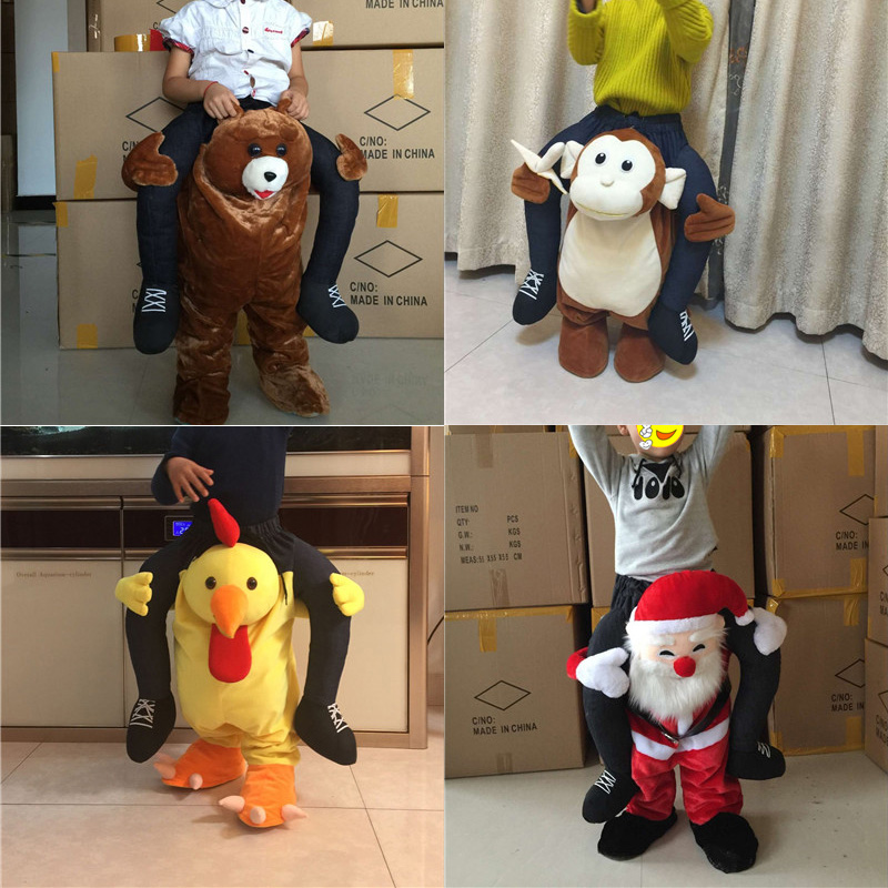 Child Cosplay Pants Funny Ride On Animal Walking Mascot Costume Fancy Dress Up Halloween Costumes for kids