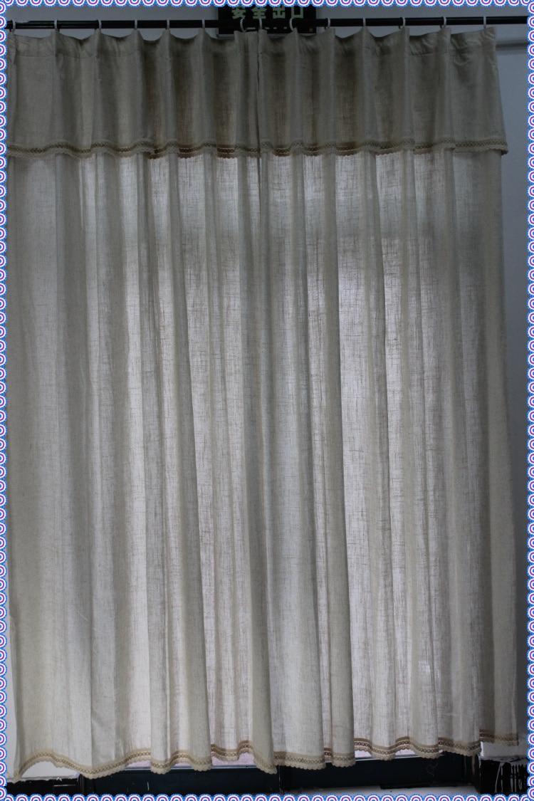 1 Panneau Naturelles de Lin Lin/Polyester Mélange Salon Rideau Avec ...