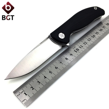 dicoria two sun ts86 d2 blade tactical ball brearing folding knife titanium hunting pocket knives outdoor survival edc tools Bear Hunting Folding Knife Flipper Tactical Combat Outdoor Camping Pocket Knives Survival EDC Multi Tools 440C/D2/EVO Blade