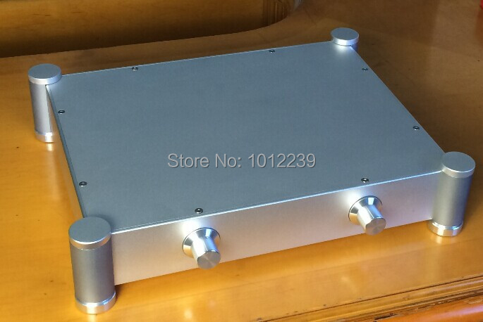 где купить hot sale new aluminum chassis /tube amp chassis/pre-amp chassis/home audio amp case size Width 342mm X depth 84mm X 430mm high дешево