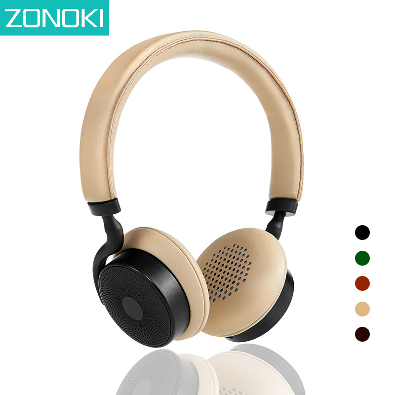 Zonoki BT1000 Wireless Bluetooth Headphones Stereo Music Headsets Multi-Touch Gestures Control Headsfree Phone Earbuds With Mic zonoki z b97 sports wireless bluetooth v2 1 edr stereo headphones grey black