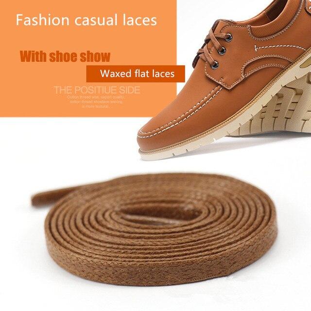 1 paire plat ciré botte dentelle chaussure chaîne robe coton Polyester lacet espadrille désert bottes accessoires longueur 120cm