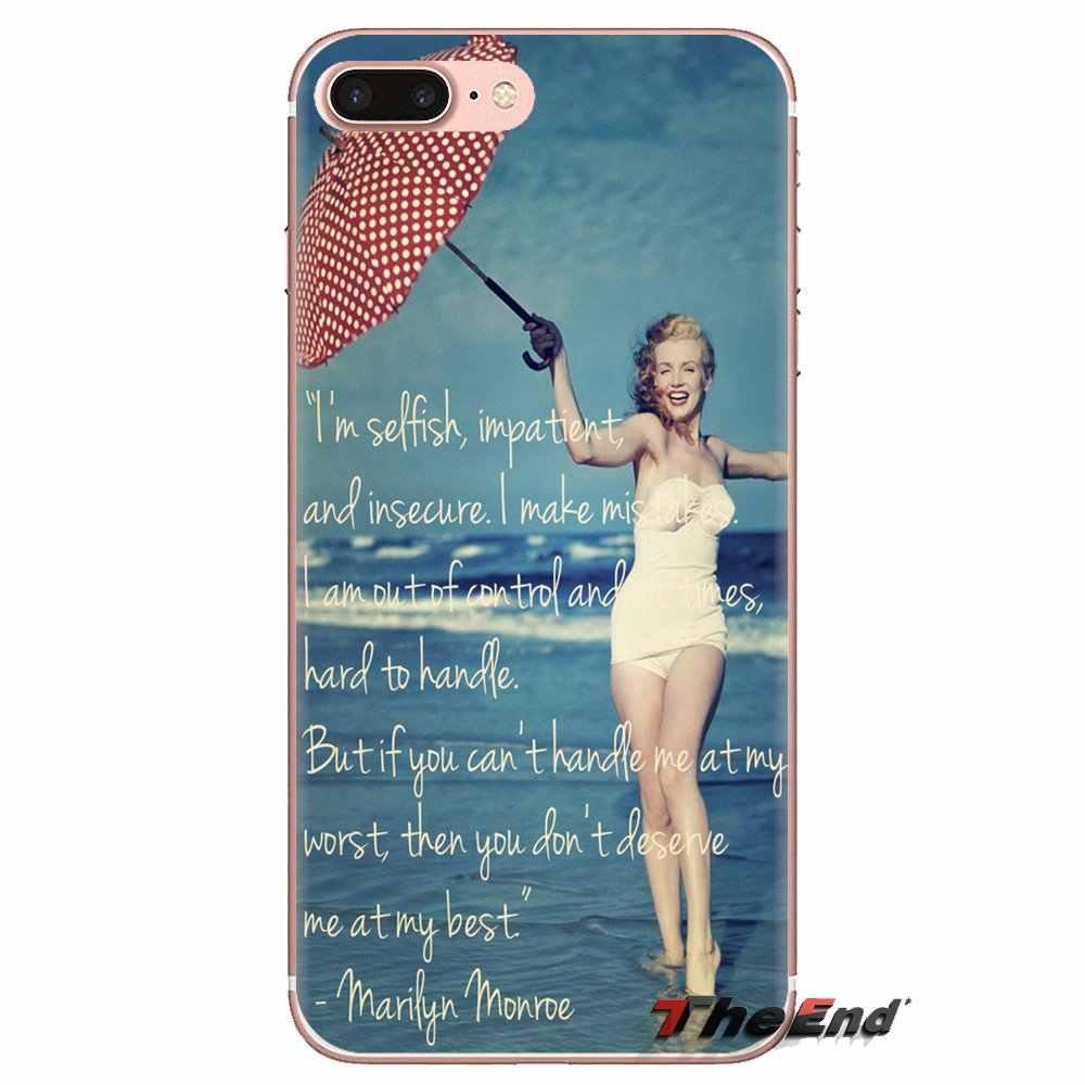 Мэрилин Монро в стиле пин-ап кинозвезды девушка шаблонный кейс для LG Spirit Motorola Moto X4 E4 E5 G5 G5S G6 Z Z2 Z3 G2 G3 C Play Plus мини