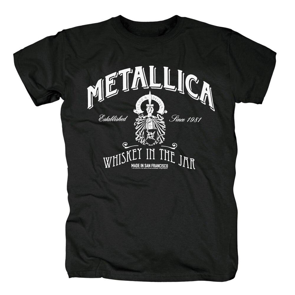 Бесплатная доставка Metallica и справедливости для всех хром статуя футболка новая ...