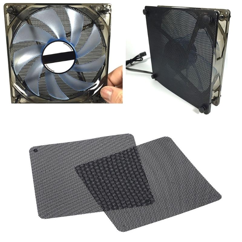 2pcs 12cm Dust Proof Net Computer Case Fan Cooler Filter Dustproof Mesh Cuttable