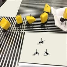 XUNZHE 12 шт./компл. мини Ant вилка для фруктов Вилка для овощей и фруктов закуски десерт держатель для бара вечерние коктейли знак