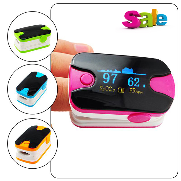 New!  5 Pcs Health Care OLED Display Fingertip Pulse Oximeter With Audio Alarm & Pulse Sound