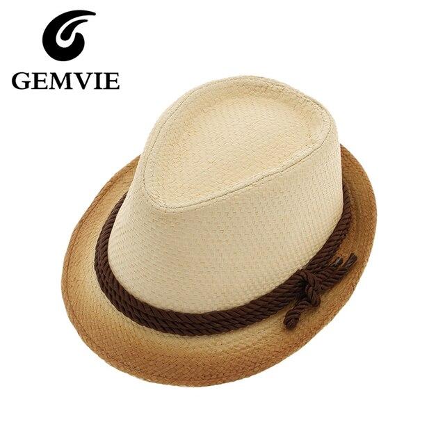 Simple ramp Shader paja con bowknot sunhats verano para las mujeres hombres  Jazz gorras playa 31d3e8efdfa