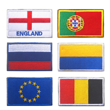 European Flag Patch Tactical Morale Emblem Hook & Loop Army Embroidery Badge Embroidered Patches Appliques