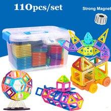 110 шт. мини Магнитные строительные игрушки модель строительные блоки пластиковые дизайнерские магнитные кирпичи развивающие игрушки для детей