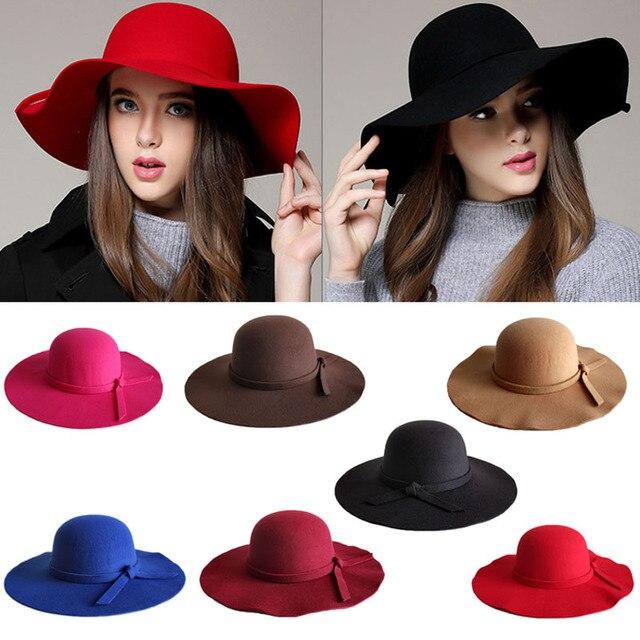 Moda mujer playa Sol sombrero olas grandes BRIM Sol Bonnet lana imitación  Sol sombrero H9 d92cab81735