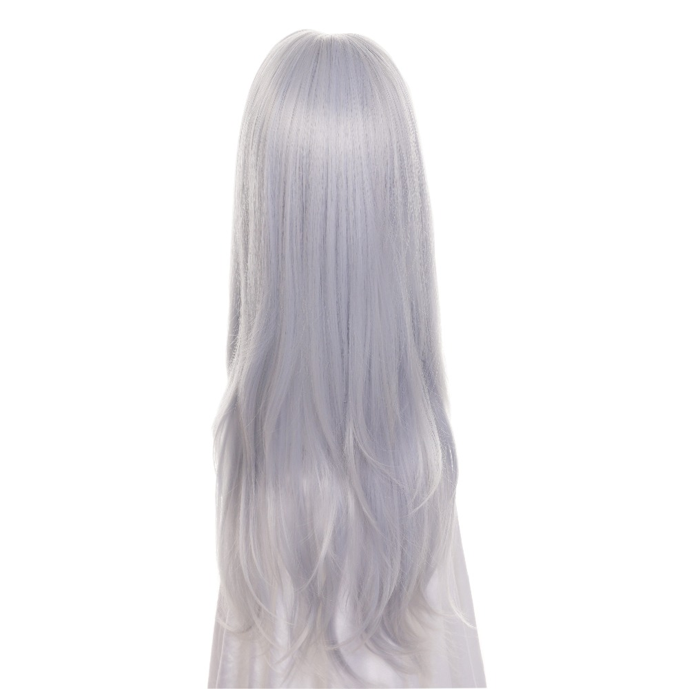 Image 4 - ccutoo 75cm Silver Blue Mix Curly Long Middle Parting Hairstyles Synthetic Wig Heat Resistance Hair Cosplay Costume Wigs-in Synthetic None-Lace  Wigs from Hair Extensions & Wigs