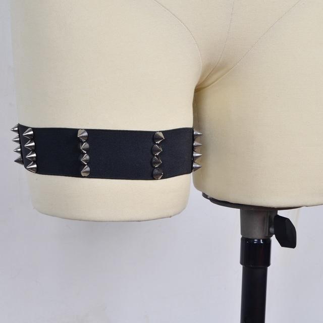 Gothic Kawaii PAIR spiked garters elastic garters BDSM grunge punk fetish bondage garter alternative sexy witch spiked garter 5