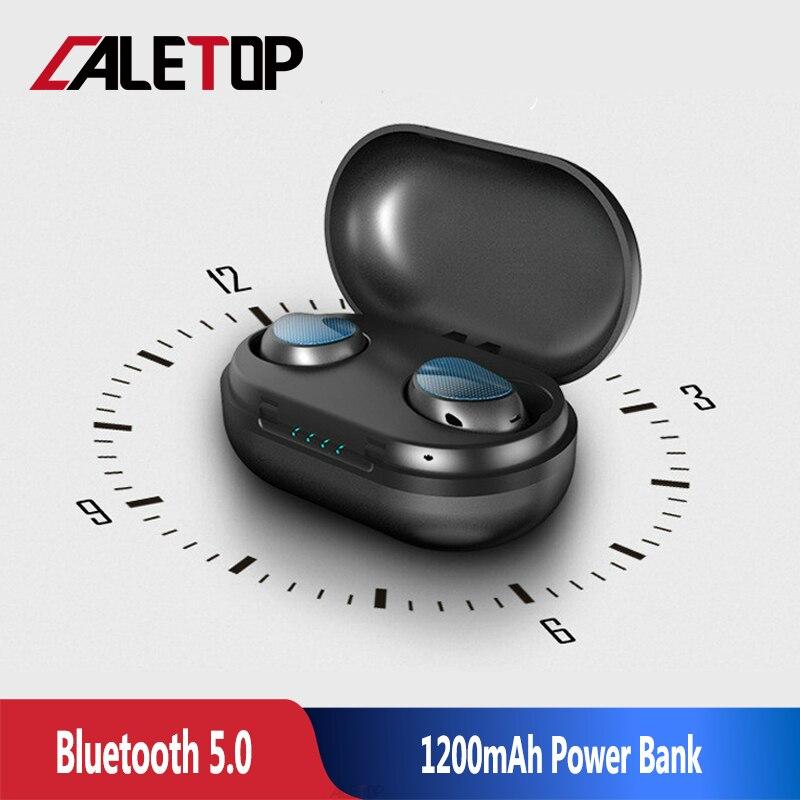 CALETOP T10 TWS Sans Fil Écouteurs écouteurs sans fil véritables avec Double Mic Tactile Contrôle Stéréo Sport Bluetooth écouteurs pour iphone