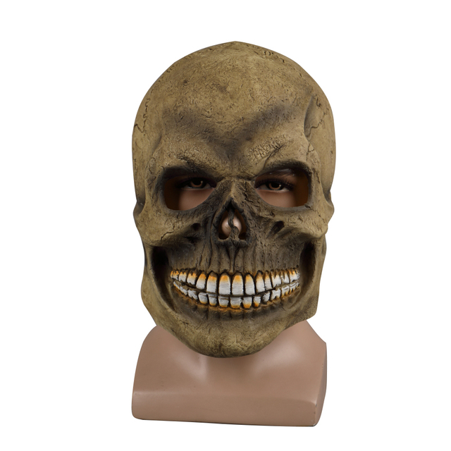 Realistic Scary Halloween Masks.Scary Skull Mask Full Head Halloween Masks Realistic Latex Party Horror Cosplay Toy Props